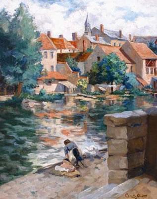 Camille Prouvost, La lavandière près du village