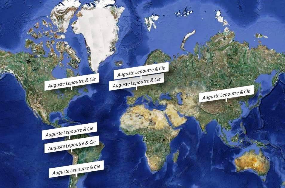 Les usines Lepoutre dans le monde