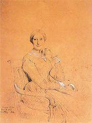 Julie Mottez portrait de 1833 par Ingres