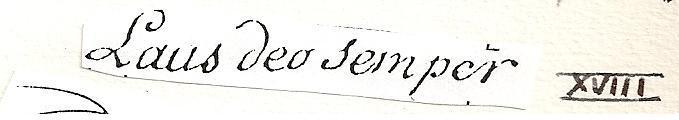 lAUS dEO sEMPER? DEVISE PROUVOST 1748