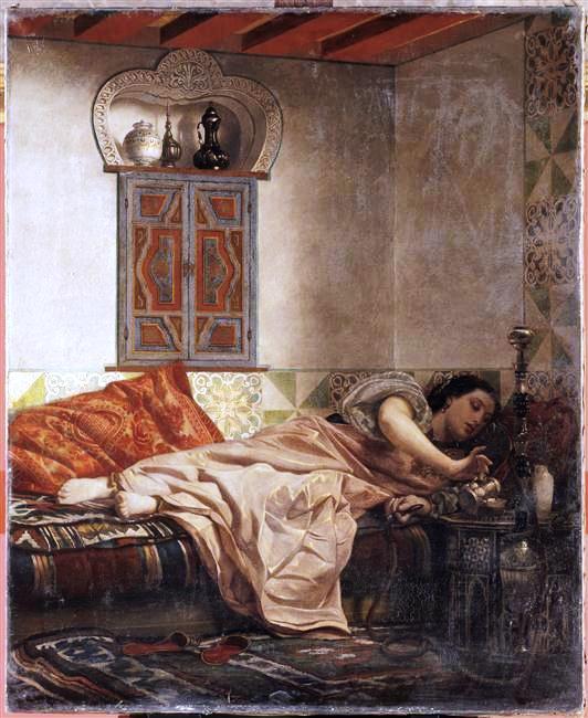 Femme juive d'Alger 1861 par Alexandre Lauwick