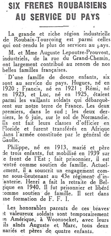 """Lepoutre-Prouvost-six-freres-Thierry-Prouvost-蒂埃里•普罗沃 - Association """"Le Paris du Nord""""  協會 """"北部巴黎"""