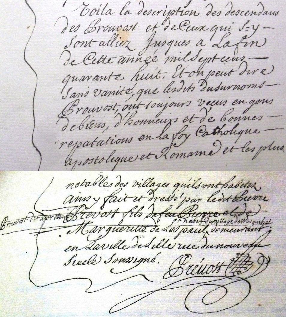 PROUVOST-1748-Genealogie-reputation