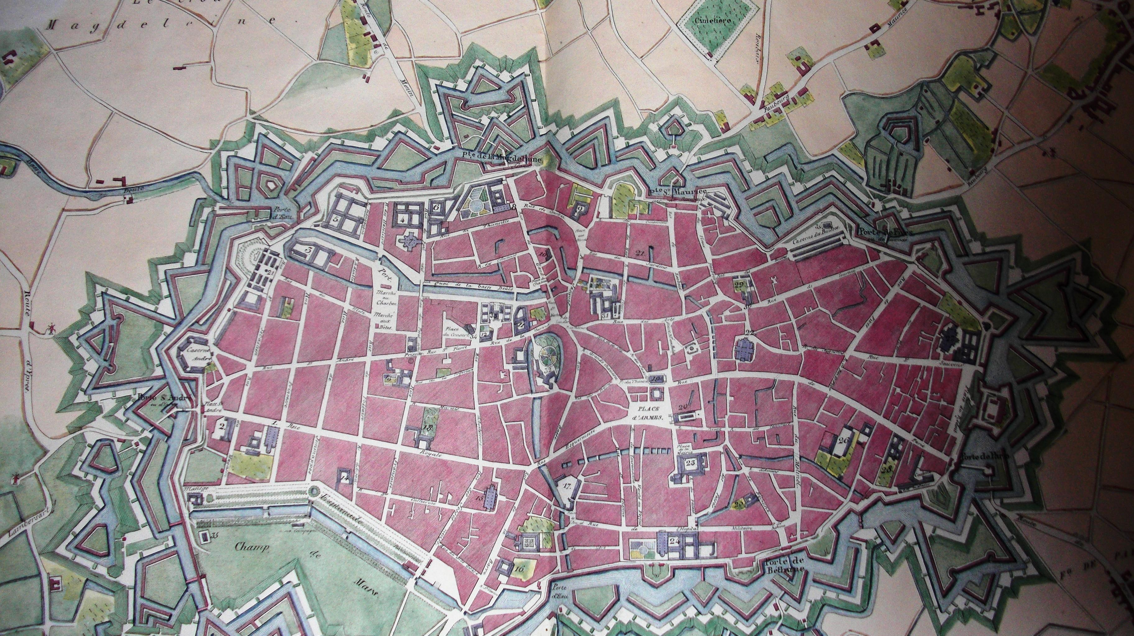 Plans-Lille-18eme