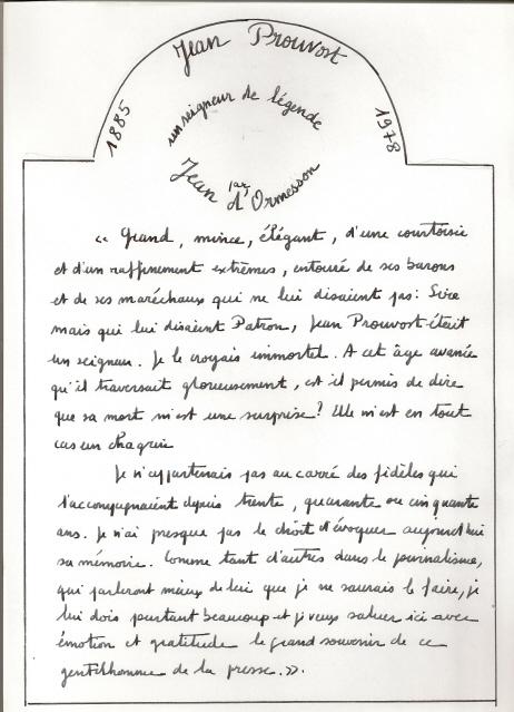 Article du Figaro sur Jean Prouvost