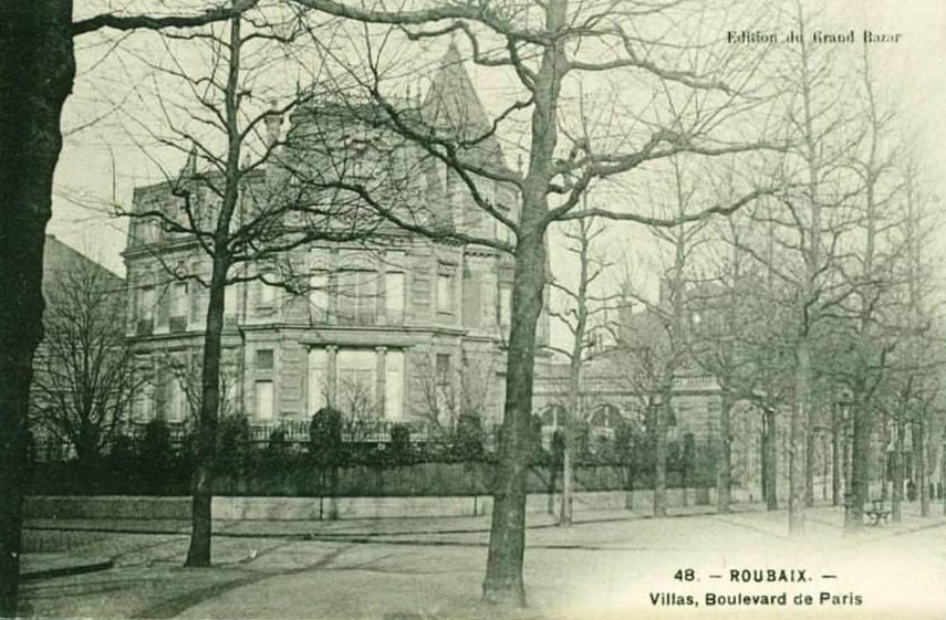 """Roubaix-50, boulevard de Paris-Albert-1-Prouvost-Thierry-Prouvost-蒂埃里•普罗沃 - Association """"Le Paris du Nord""""  協會 """"北部巴黎"""