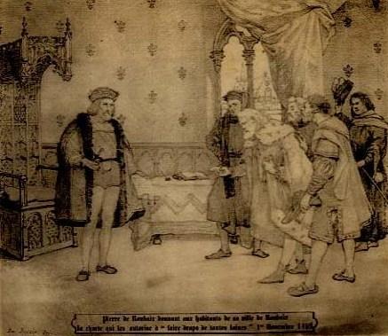 Charte-drapiers-Jehan-Prouvost-Pierre-de-Rouabix, Jean-de-Langlee