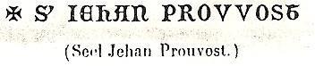 Scel Jehan Prouvost