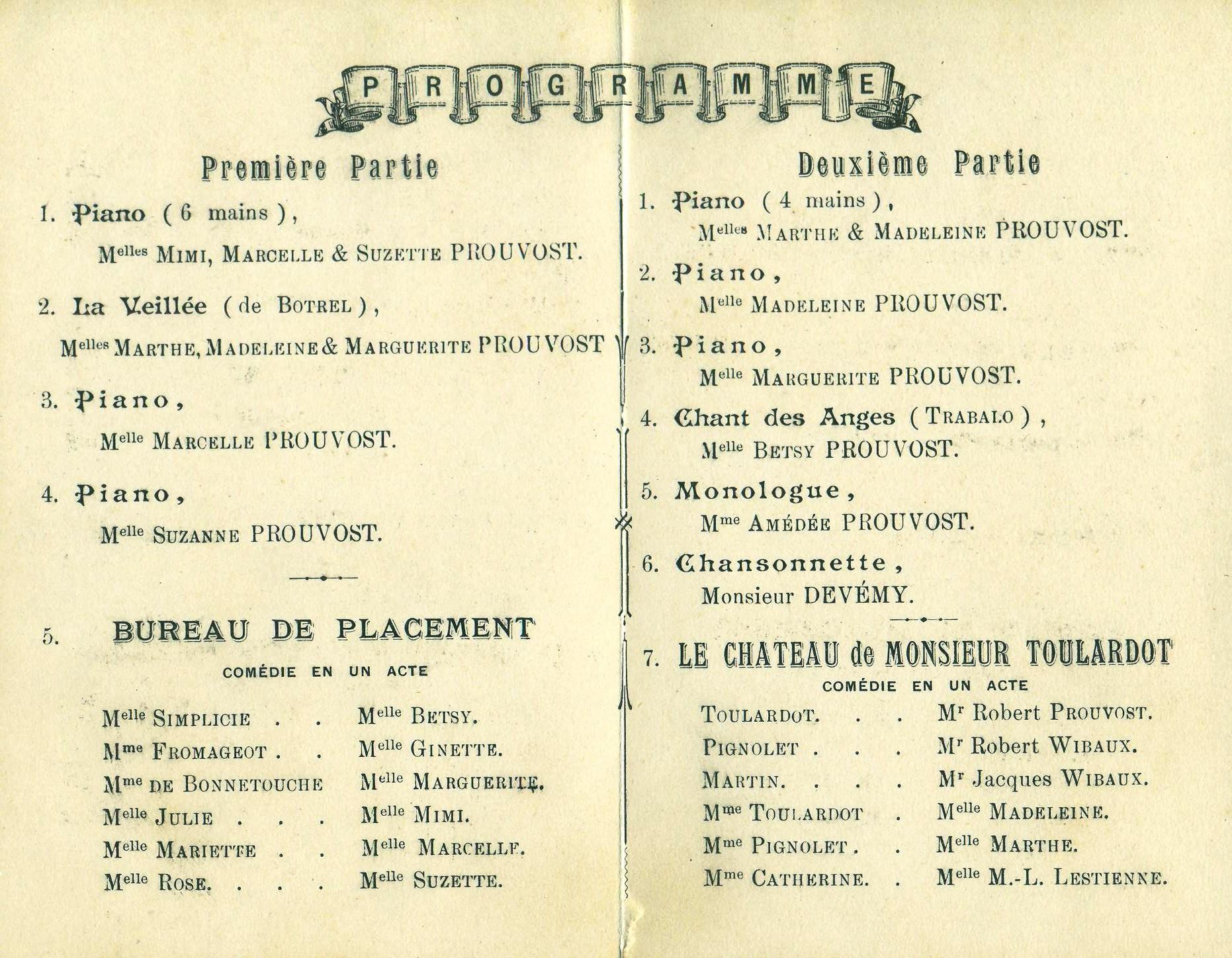 """theatre-Albert-1er-janvier-1901-Association """"Le Paris du Nord""""  協會 """"北部巴黎-Thierry-Prouvost-蒂埃里•普罗沃"""