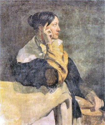 Julie Mottez à fresque peinte à Rome en 1837 par Victor  Mottez, musée du LOuvre